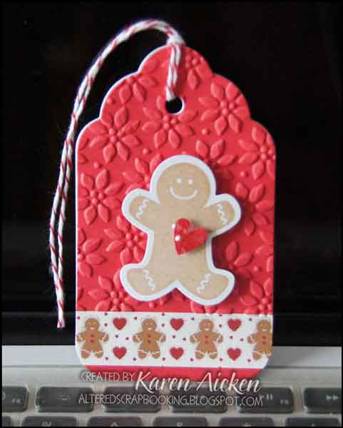 Altered Scrapbooking: Gingerbread Man Tag