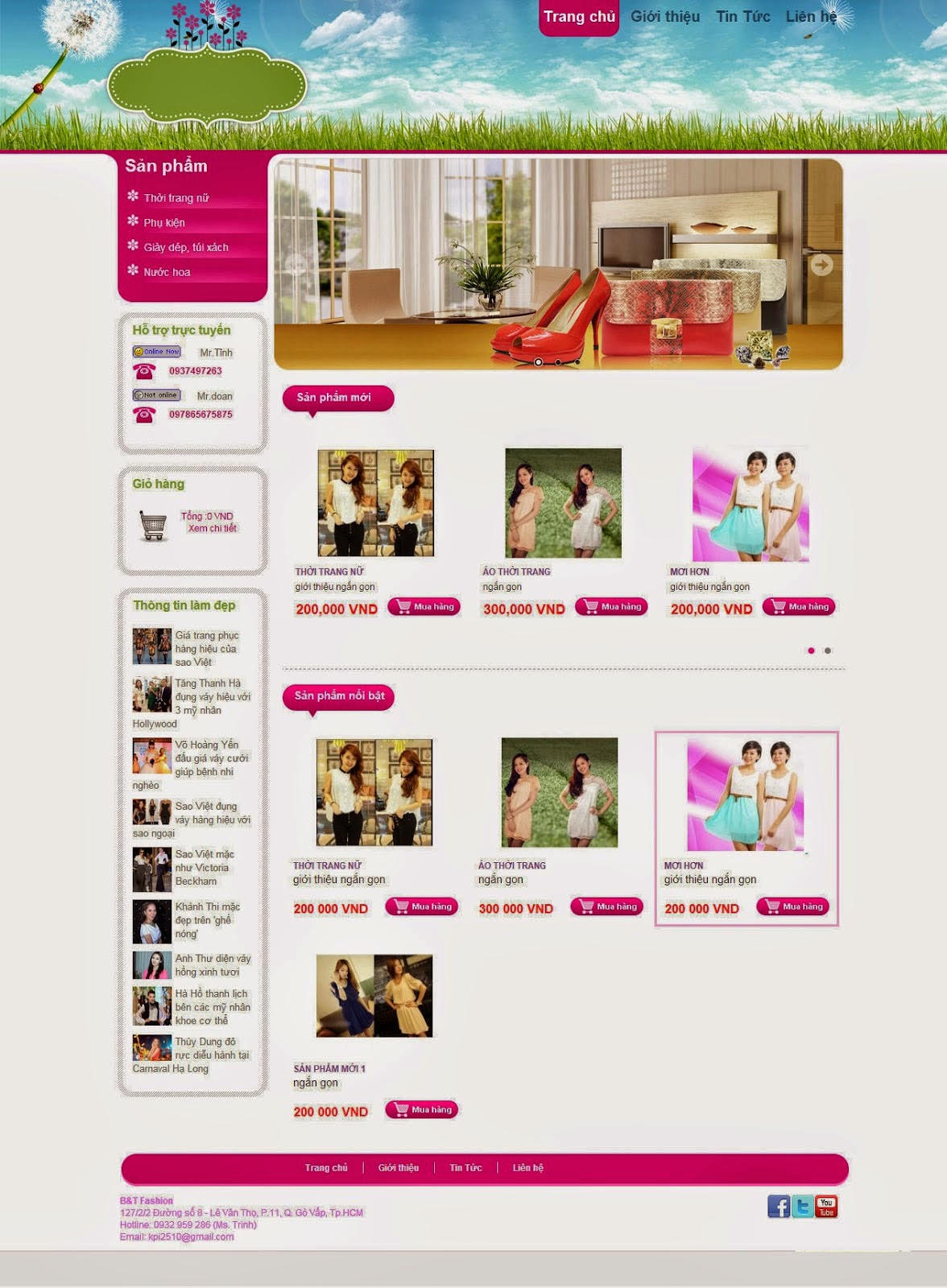 website shop thời trang