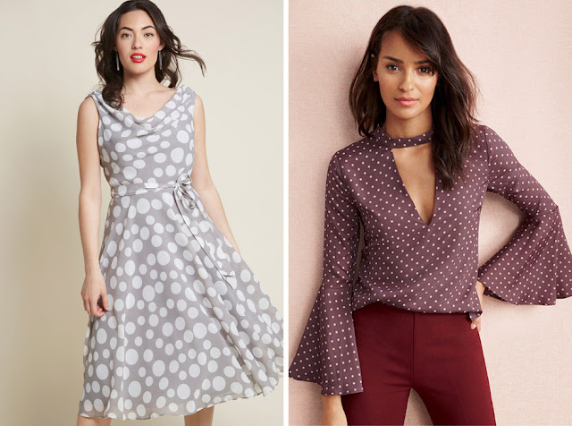 Сравнение упорядоченного гороха на блузке и неупорядоченного гороха на платье