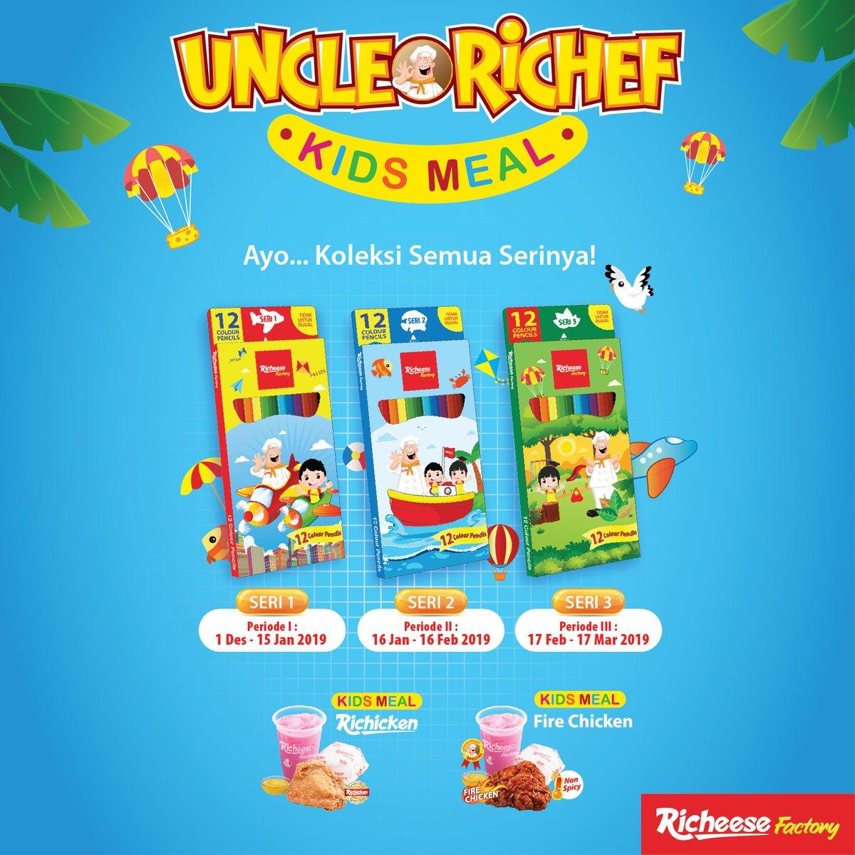 RicheeseFactory - Promo Merchandise Pensil Warna Setiap Beli COmbo Kids Meal