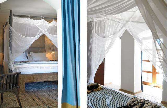 cama con dosel madera exotica