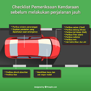 Checklist pemeriksaan kendaraan sebelum perjalanan jauh