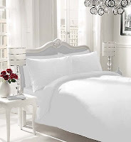 Luxury Parcale Plain Dyed Duvet Cover - 2 Pillow Cases Bed Set