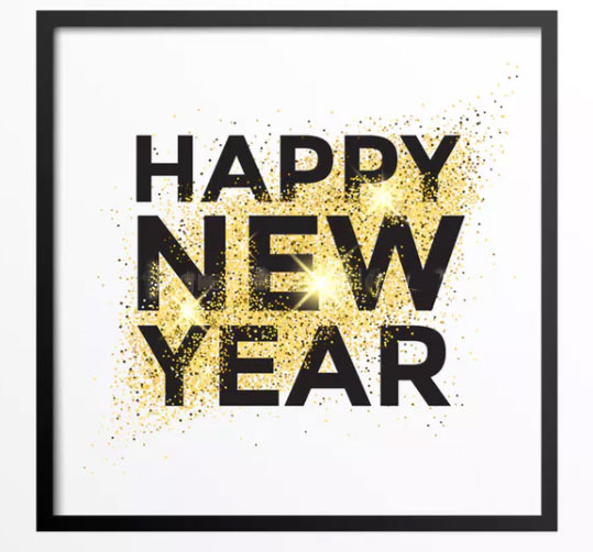 Gold glitter happy new year 2018 greeting card free happy new year 2018 m4hsunfo