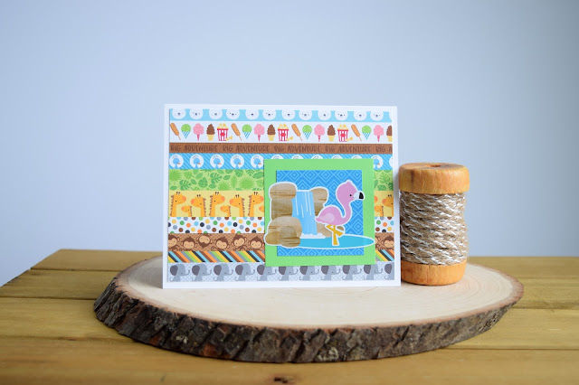 Wild Animal Themed Card by Jess Gerstner featuring Doodlebug At the Zoo