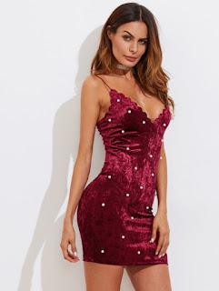 shein-dresses-velvet dresses-burgundy-