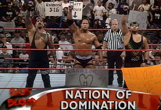WWE / WWF - Badd Blood: In Your House 18 Review - The Nation - Kama, Rock, and D'Lo