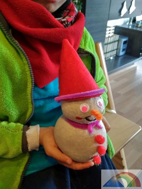 Muñeco de nieve terminado