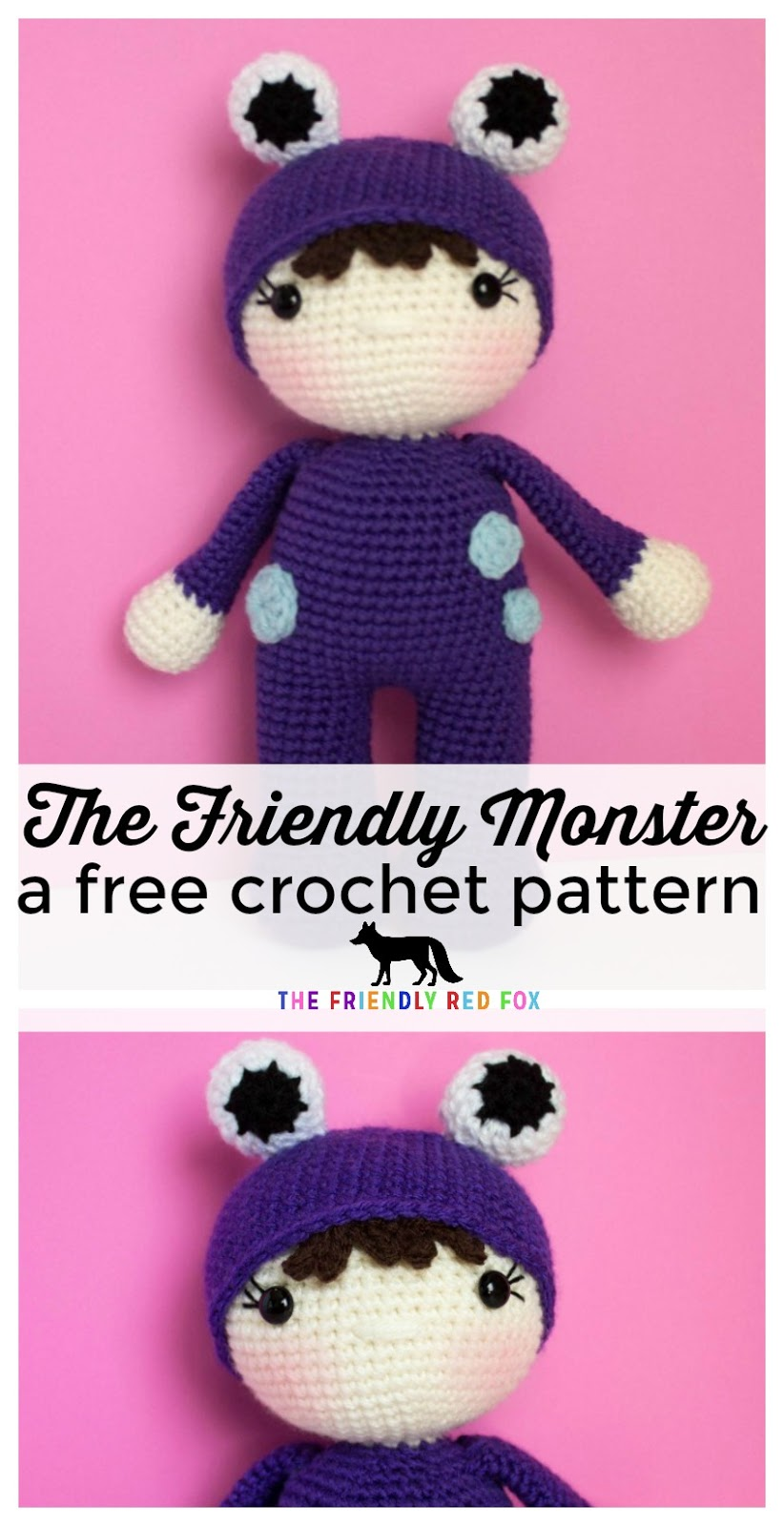 Amigurumi Monsters Free Crochet Patterns | 1600x822