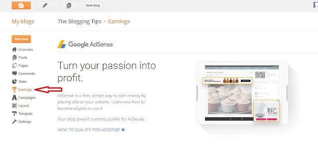 make money with adsense on blogger