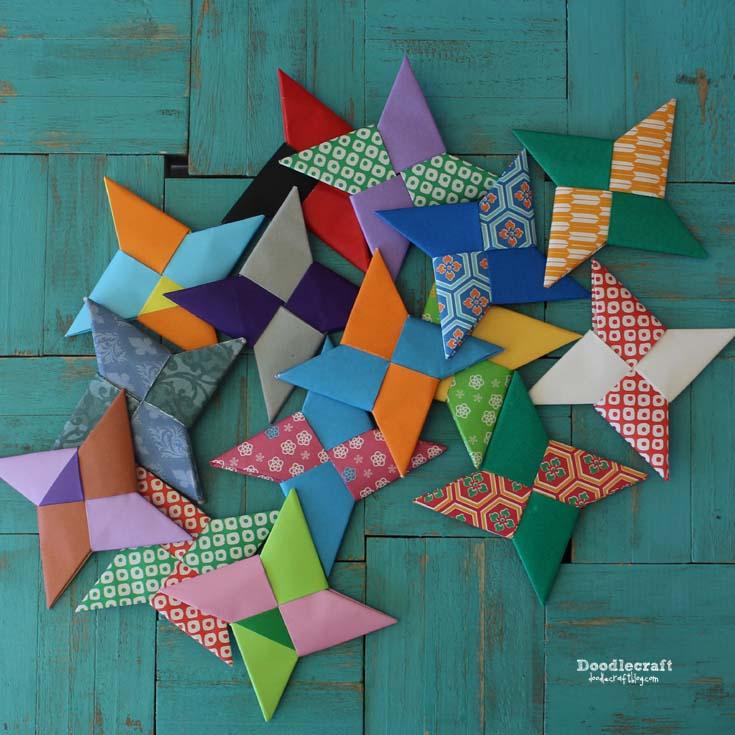 Doodlecraft Origami Ninja Stars