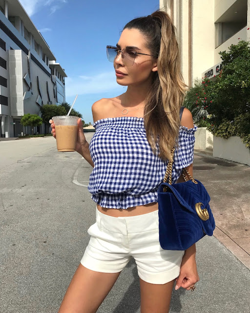 afd079cd2178 Sunglasses  Kendall + Kylie Top  Rails (Shop more Rails here) Shorts  Shop  white shorts here