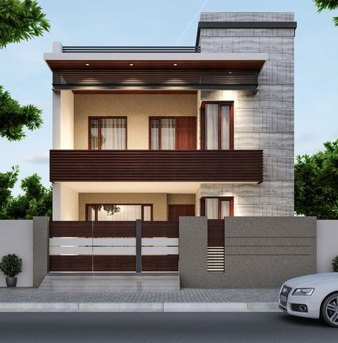 Modern House front designs: 50 exterior wall decoration ...