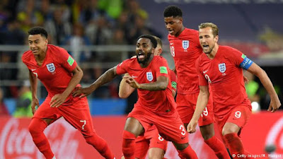 England dumps Colombia out of the on-going FIFA 2018 world cup at Russia. Harry Kane gave the three Lions the lead when he converted a 57th minute penalty.   However the game went to extra-time following an equaliser by Colombian FC Barcelona new defender, Yerry Mina who headed home a Juan Cuadrado's corner.