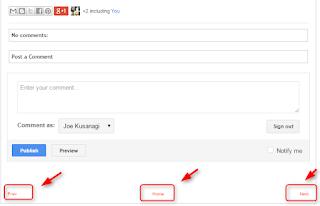 Mengganti link older newer post dan homepage di blogger