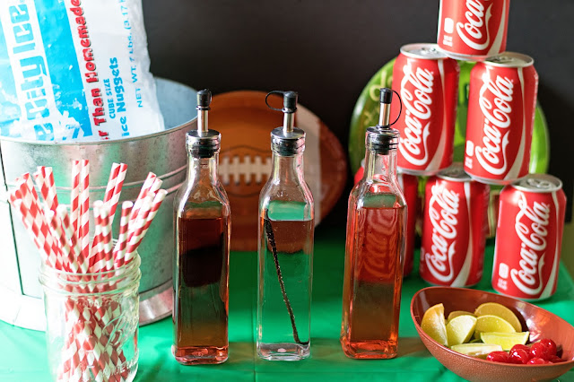 A picture of the coca-cola bar.