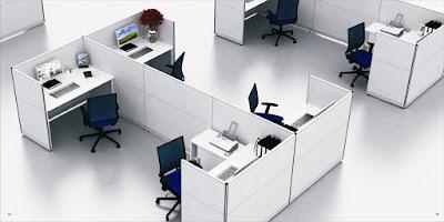 Văn phòng làm việc hiện đại và thông minh với vách ngăn bàn làm việc