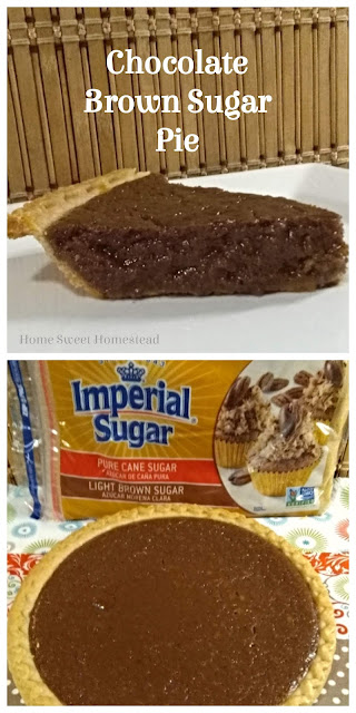 Chocolate Brown Sugar Pie