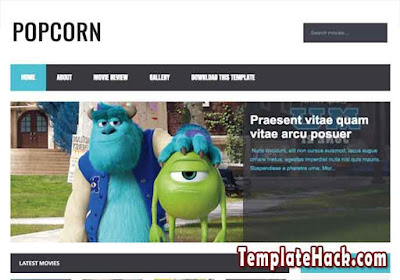 popcorn responsive blogger template