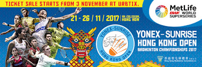 Yonex Sunrise Hong Kong Open Super Series 2017