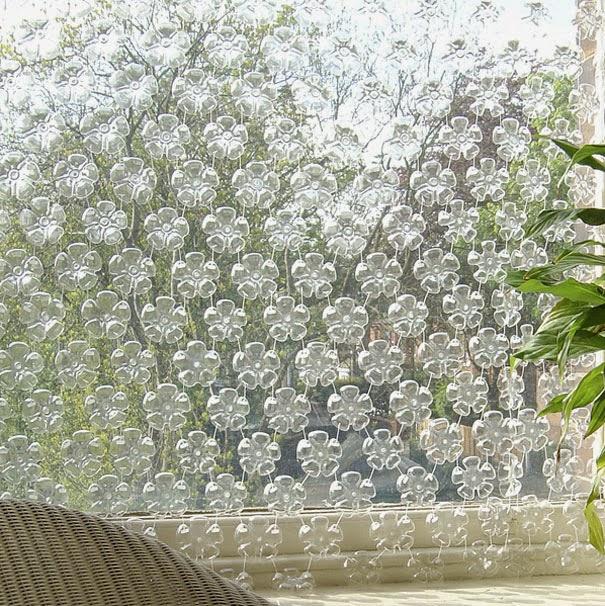 Hacer cortinas reciclando botellas de plástico DIY