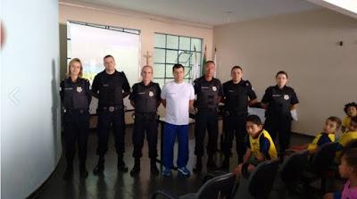 Ronda Escolar da Guarda Municipal de Barbacena (MG) recebe equipe de Itajubá (MG) para intercâmbio de experiências