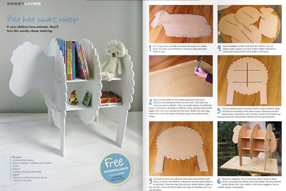 Enrhedando manualidades for Muebles de carton pdf