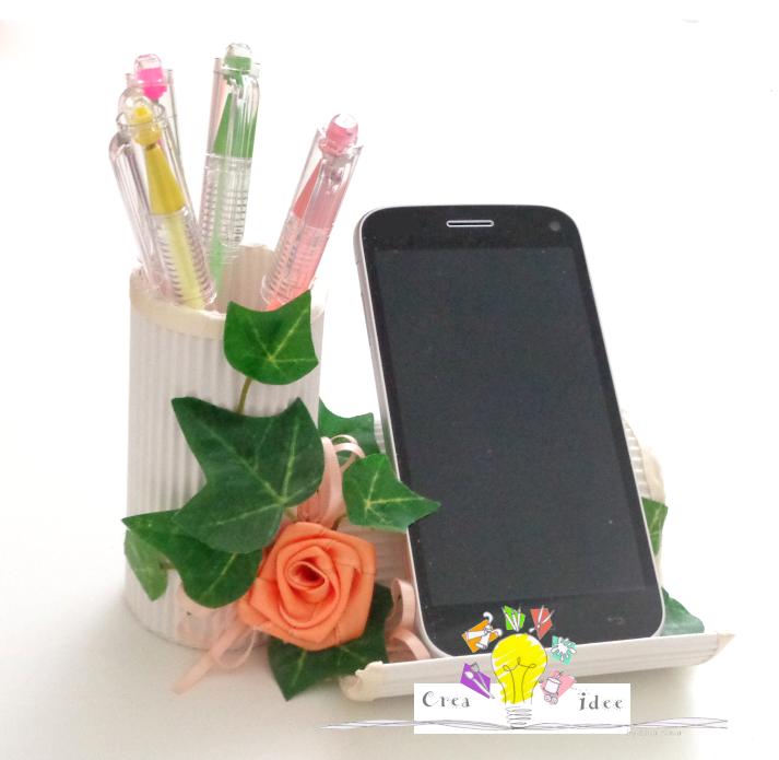 Porta cellulare da tavolo crea idee - Porta cellulare fai da te ...