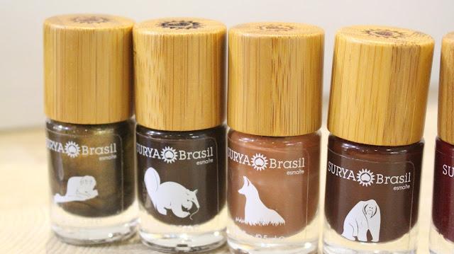 Esmaltes Veganos da Surya Brasil