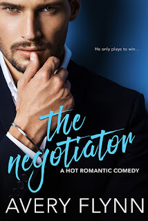 romance novel covers, contemporary romance, The Negotiator by Avery Flynn