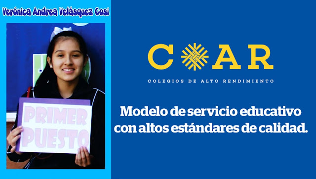 Verónica Andrea Velásquez Cosi, logró primer puesto en examen de admisión COAR 2019
