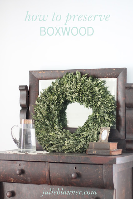 how to preserve a boxwood wreath including ideas for gifting and decor
