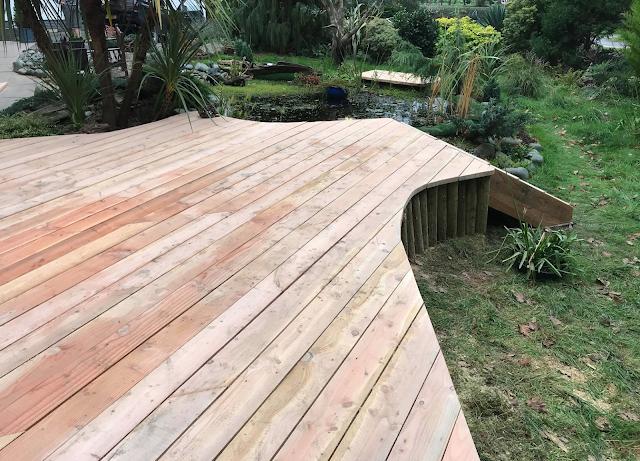 Organic decking timber