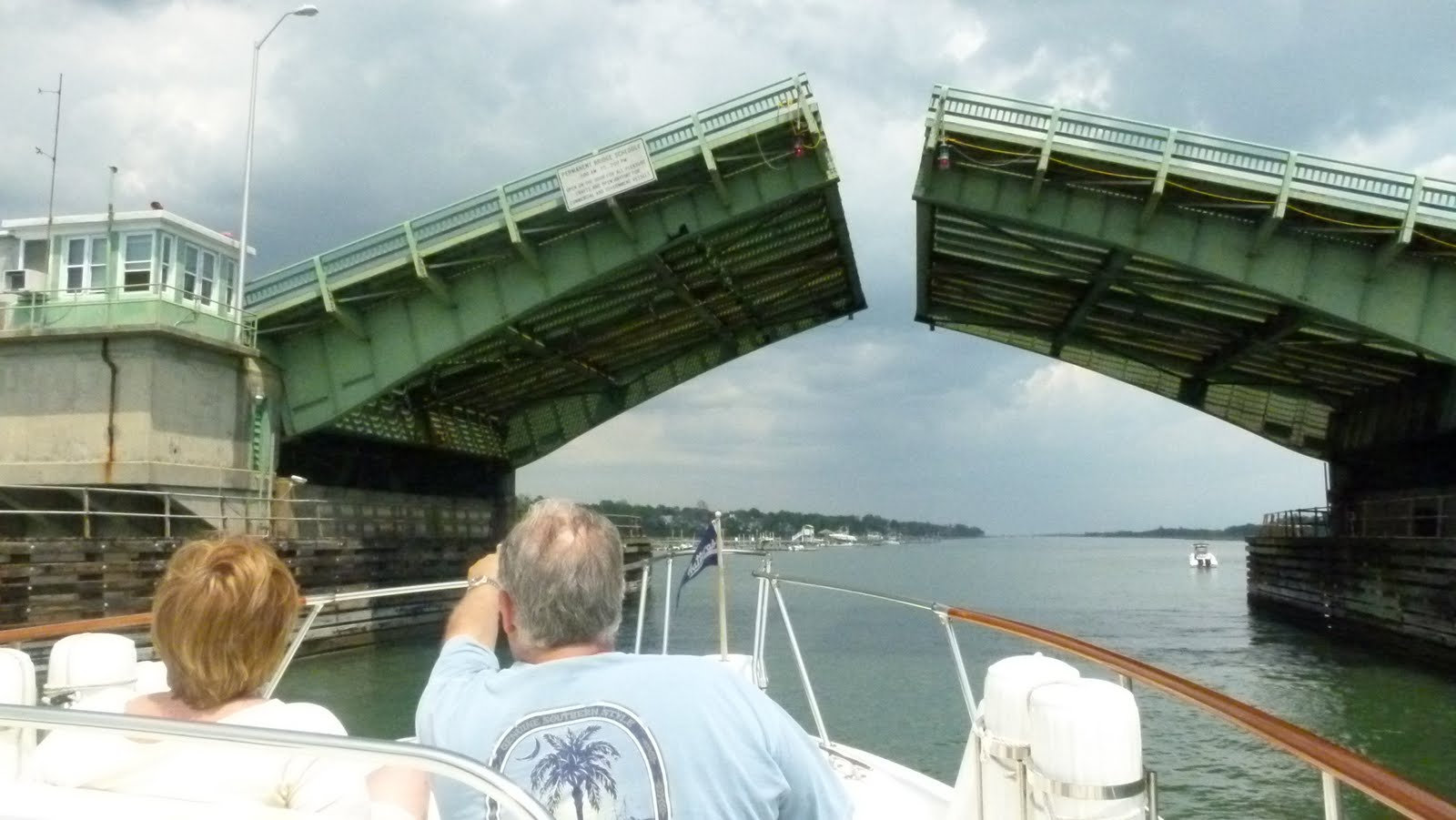 Alexis And Craig Watching The Wrightsville Beach Bridge Open