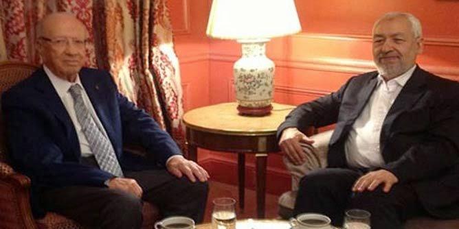 معالم لقاء باريس بين الغنوشي و السبسي:النهضة تقدم السلفيين ككبش فداء و النداء يقدم الشيوعيين