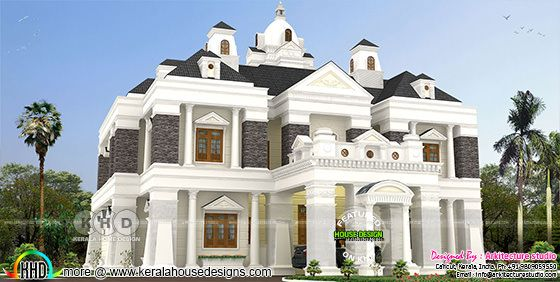 5 bedroom Colonial home rendering