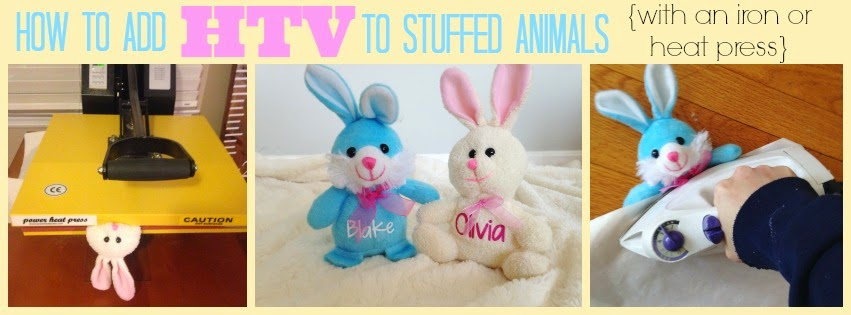 HTV, heat transfer vinyl, stuffed animals, silhouette america blog, silhouette 101