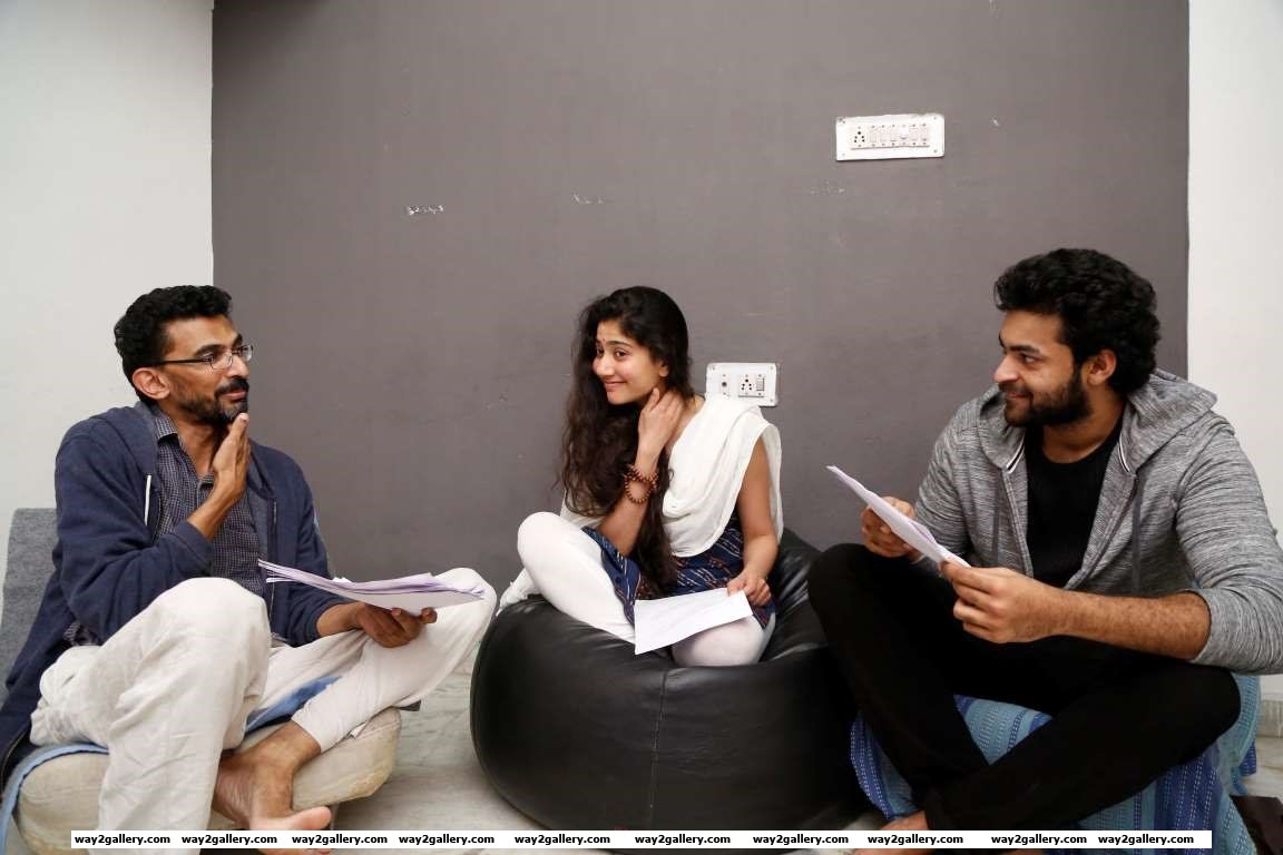 Sharing a photo form his upcoming production venture Dil Raju posted on Facebook The beginning of something special Preproduction underway ActorsWorkshop VarunTej SaiPallavi