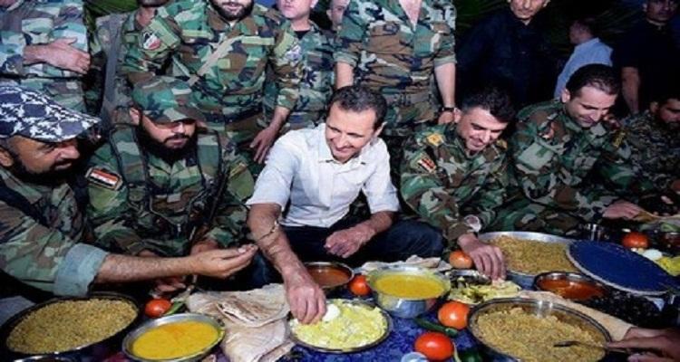 بشار الأسد ذهب لتناول الإفطار مع الجنود في دمشق فحصلت له مفاجأة أغرب من الخيال