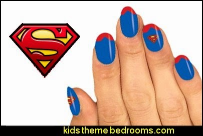Superman nail stickers - Superman nail art