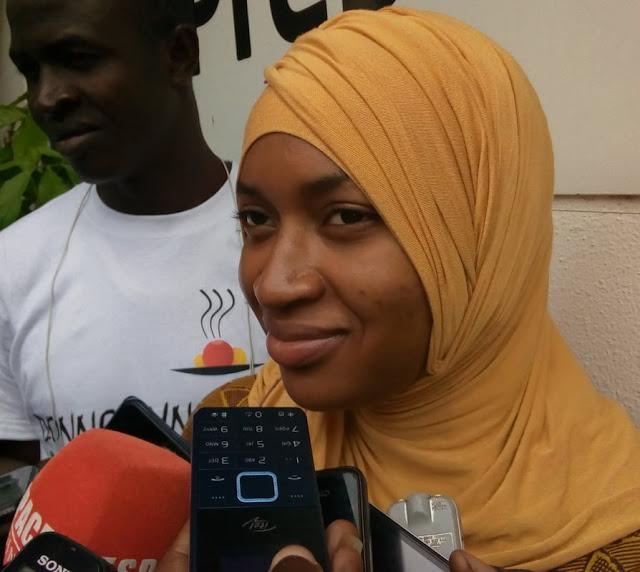 Madame Laouratou Diallo secrétaire administrative de l'ONG