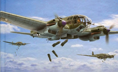 HE 111 (model)  (HE 111 (painting)  (From German Aircraft of WWII website)German Aircraft of WWII website)