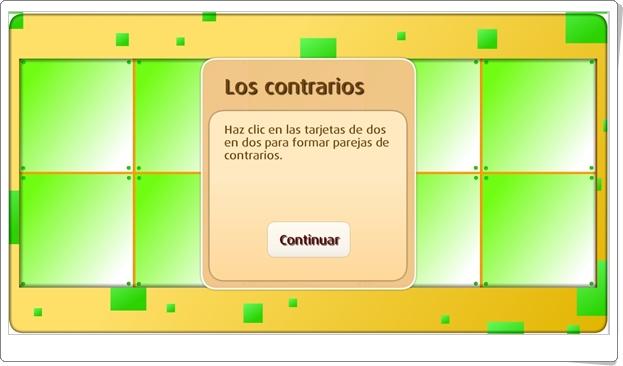 """Memory """"Los contrarios"""" (Juego de Lengua Española de Primaria)"""