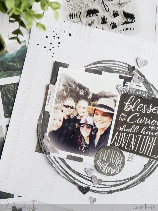 new Heidi Swapp Wolf Pack Paper Line layout by Jamie Pate | @jamiepate for @heidiswapp