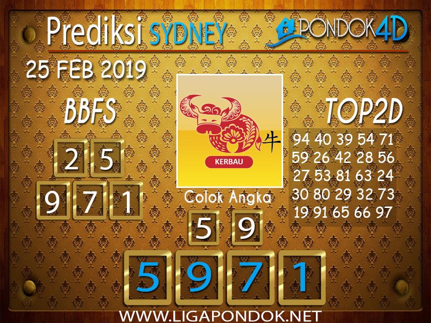 Prediksi Togel SYDNEY PONDOK4D 25 FEBRUARI 2019