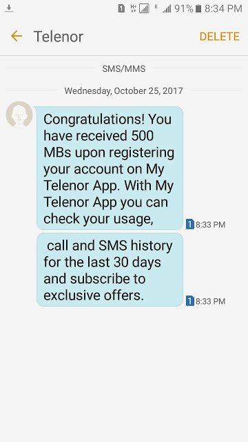 Telenor Free 500 Mb Internet Offer - IT Classes Online