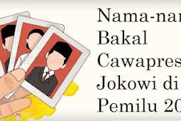 Nama-nama Bakal Cawapres Jokowi di Pemilu 2019
