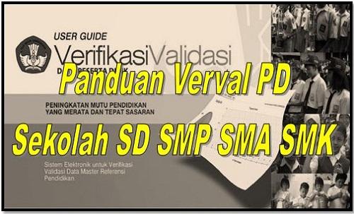 Panduan Verval PD Sekolah SD SMP SMA SMK