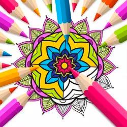 Mandala Boyama Kitabı - Mandala Coloring Book