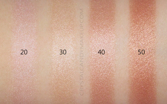 Make Up For Ever Ultra HD Soft Light Liquid Highlighter Swatches 20 30 40 50